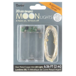 LED Moon Lights with Timer - 20 Lights, 6-1/2 ft, Bright white lights