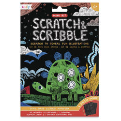 Ooly Scratch and Scribble Mini Scratch Art Kit - Dinosaur Days