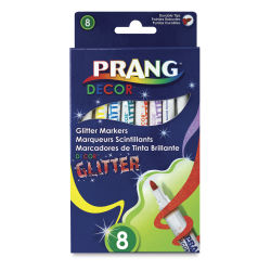 Prang Decor Glitter Markers - Set of 8