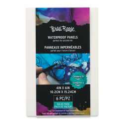 Brea Reese Alcohol Ink Panels - 4'' x 6'', Pkg of 6