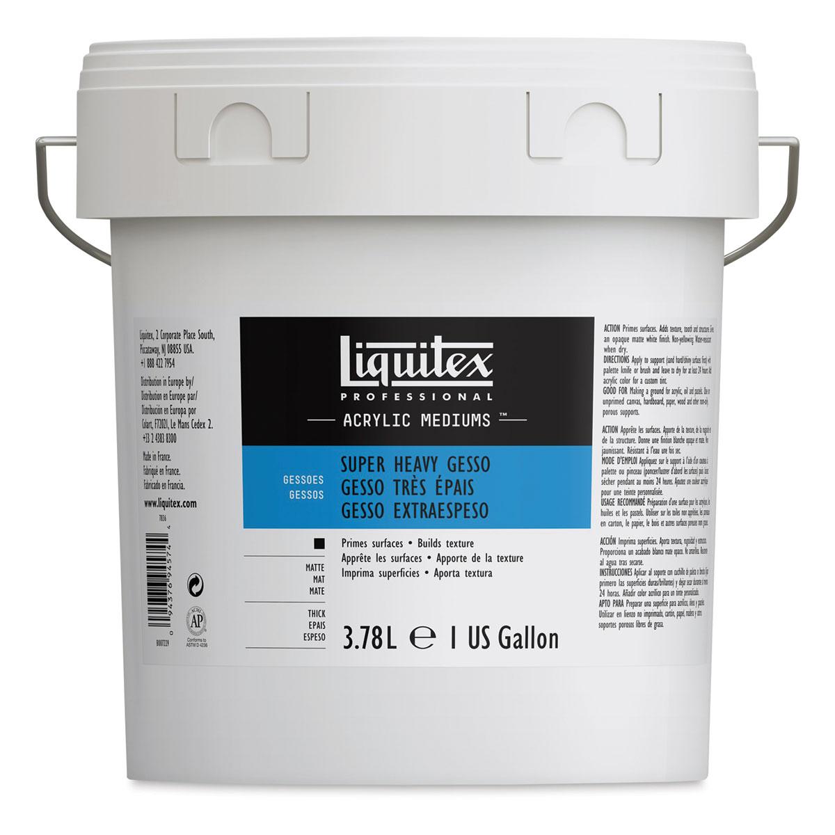 Liquitex Super Heavy Acrylic Gesso - Gallon
