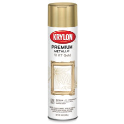 Krylon Premium Metallic Spray Paint - 18 kt Gold Plate, 8 oz
