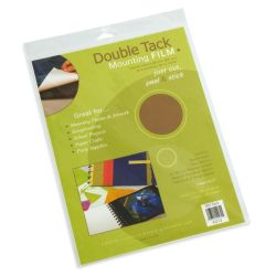 Grafix Double Tack Mounting Film - 9'' x 12'', Sheets, Pkg of 3