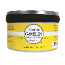 Gamblin Artist's Colors Relief Ink - Hansa Yellow Light, 175 ml