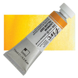 PWC Extra Fine Professional Watercolor - Cadmium Yellow Deep, 15 ml, Swatch with Tube