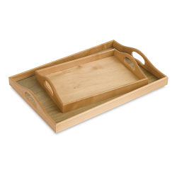 Wooden Tray - 18-15/16'' L x 13-5/16'' W x 2-9/16'' H, Large