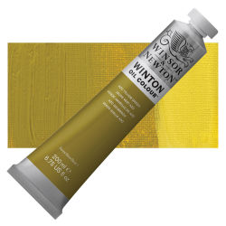 Winsor & Newton Winton Oil Color - Azo Yellow Green, 200 ml, Tube with Swatch