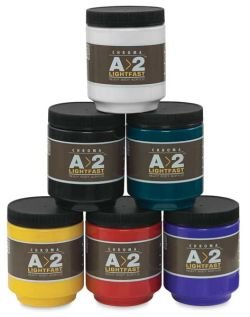 Chroma A2 Student Acrylics - Assorte Colors, set of 6, 250 ml jars