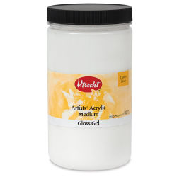 Utrecht Acrylic Medium - Gloss Gel Medium, Quart