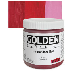Golden Heavy Body Artist Acrylics - Quinacridone Red, 16 oz jar