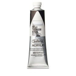 Holbein Heavy Body Artist Acrylics - Titanium White, 60 ml tube