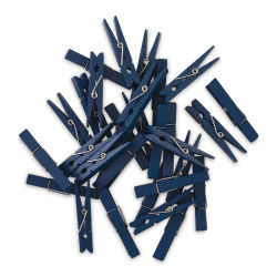 Darice Wooden Clothespins - Navy, Pkg of 30