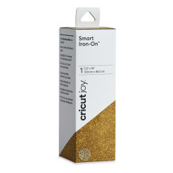 "Cricut Joy Smart Iron-On - Glitter Gold, 5-1/2"" x 19"", Roll (In packaging)"