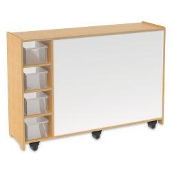 Whitney Brothers Magnetic Markerboard Mobile Storage Cabinet