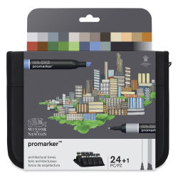 Winsor & Newton ProMarkers - Architecture Colors, Set of 24