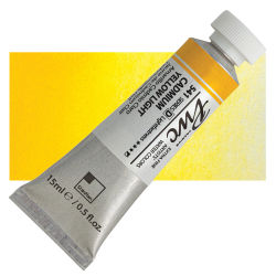PWC Extra Fine Professional Watercolor - Cadmium Yellow Light, 15 ml, Swatch with Tube