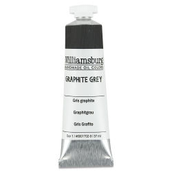 Williamsburg Handmade Oil Paint - Graphite Gray, 37 ml tube