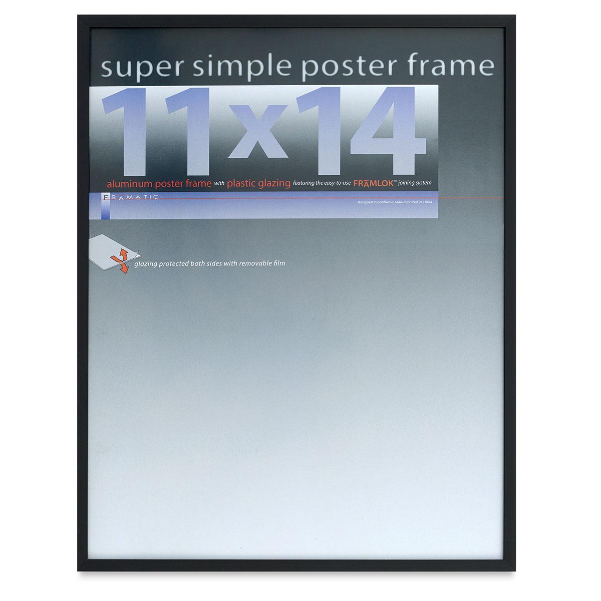 Framatic Super Simple Poster Frame - Black, 11 x 14