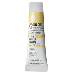 Holbein Acryla Gouache - Naples Yellow, 20 ml tube