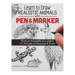 Learn to Draw Realistic Animals with Pen and Marker, Book Cover