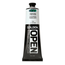 Golden Open Acrylics - Phthalo Green (Yellow Shade), 5 oz Tube