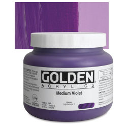 Golden Heavy Body Artist Acrylics - Medium Violet, 32 oz Jar