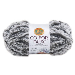 Lion Brand Go For Faux Yarn - Grey Wolf