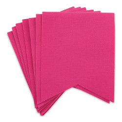 Canvas Fishtail Banners - Fuchsia, Pkg of 12