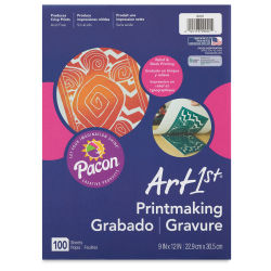 Pacon Art1st Printmaking Paper - 9'' x 12'', 100 Sheets