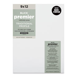 "Blick Premier Cotton Canvas - Back-Stapled, 7/8"" Traditional Profile, 9"" x 12"""