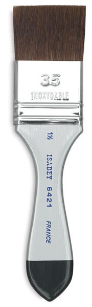 Isabey Squirrel Brush - Flat Wash, Short Handle, 1-1/2''