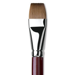 Da Vinci Kolinsky Red Oil Sable Brush - Bright, Long Handle, Size 22
