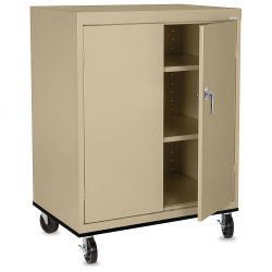 Mobile General Storage Cabinet - 36'' x 24'' x 48'', Tropic Sand