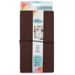 Momenta The Explorer Journal - Brown Faux Leather Journal