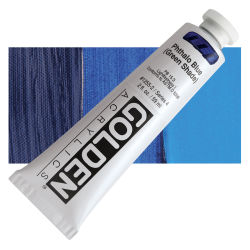 Golden Heavy Body Artist Acrylics - Phthalo Blue (Green Shade), 2 oz Tube