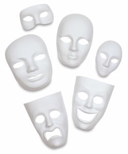 Creativity Street Plastic Face Mask - Female