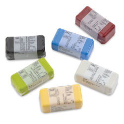 R&F Encaustic Paints - Introductory Set of 6, 40 ml blocks