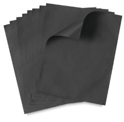 Amaco ArtEmboss Soft Metal Sheets - 9.25'' x 12'', Pkg of 12, Light Weight, Black