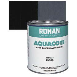 Ronan Aquacote Water-Based Acrylic Color - Black, Quart