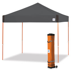 E-Z Up Pyramid Shelter - Steel Gray, 10 ft x 10 ft