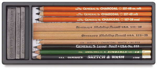 General Pencil Sketch and Wash Pencils 12-Pack