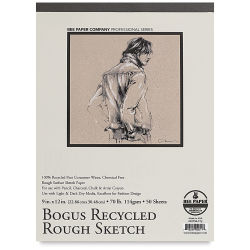 "Bee Paper Bogus Recycled Rough Sketch Pad - 9"" x 12"""