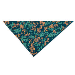 Lokta Paper - Forever Floral, Teal, Copper, and Blue, 20'' x 30''