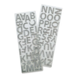 Momenta Alphabet Stickers - Silver Foil, Uppercase, Crimped