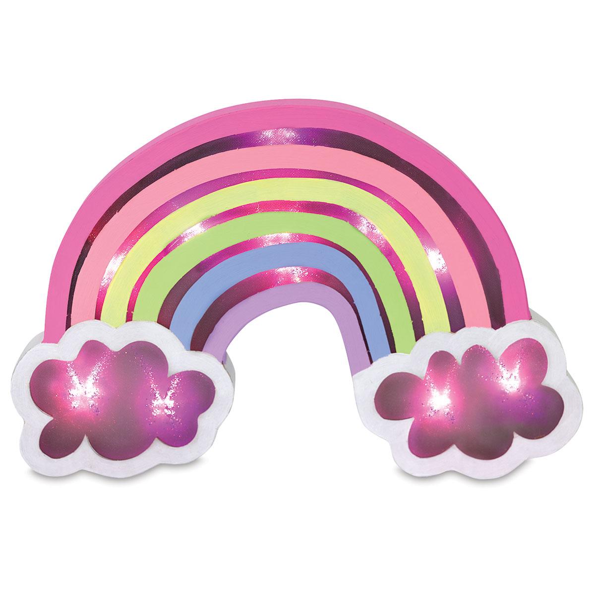 Momenta LED Lighted Papier Mache Shape - Rainbow