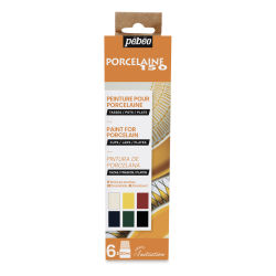 Pebeo Porcelaine 150 Paints - Initiation Set, Set of 6, 20 ml bottle