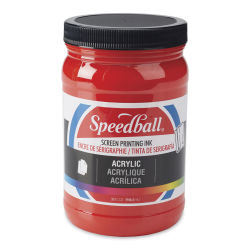 Speedball Permanent Acrylic Screen Printing Poster Ink - Medium Red, Quart