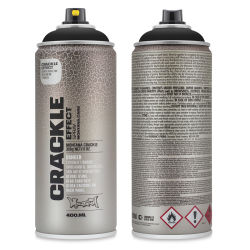 Montana Crackle Effect Spray - Traffic Black, 11 oz