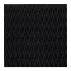 "Black Ink Corrugated Illusion Decorative Paper - Jet Black, 12"" x 12"""