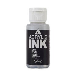 Holbein Acrylic Ink - Pearl Silver, 30 ml